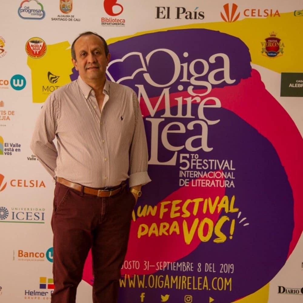 Marco Robayo en el festival 'Oiga, Mire, Lea'