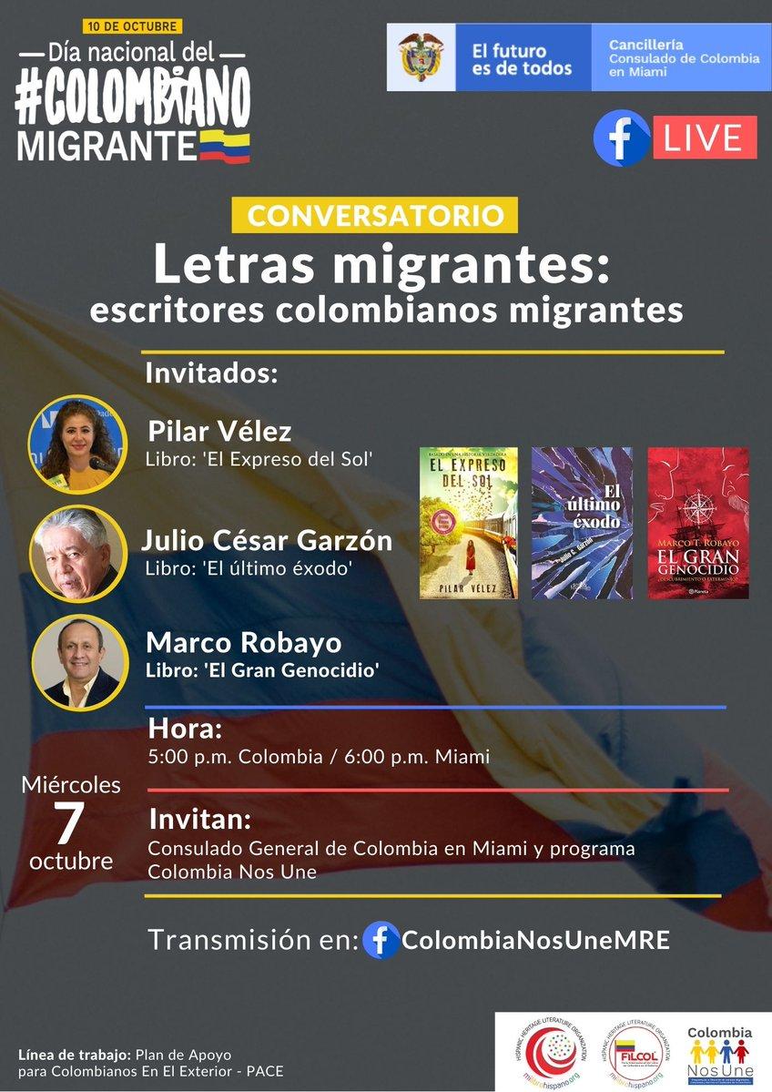 Conversatorio – 'Letras migrantes: escritores colombianos migrantes'